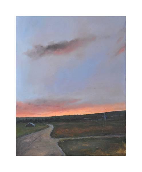 Bilde av Solnedgang over staa