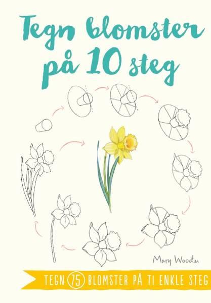 Bilde av Tegn blomster på 10 steg
